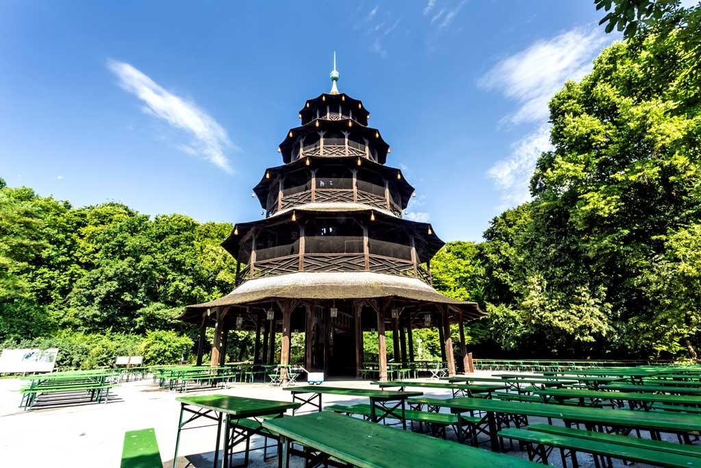 Biergarten am Chinesischen Turm in München