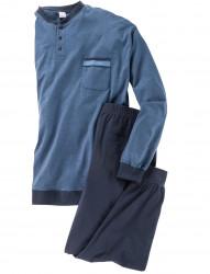 Langer Schlafanzug aus weicher Baumwolle von Adamo Fashion