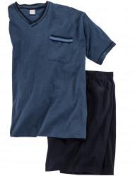 Schlafanzug kurzarm mit Short von Adamo Fashion
