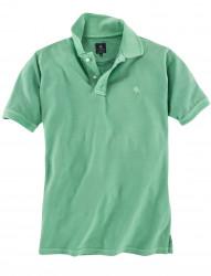 Unifarbenes Poloshirt mit Used-Waschung von Kitaro