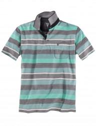 Feines Poloshirt mit Streifen und Stay Fresh Funktion von Hajo