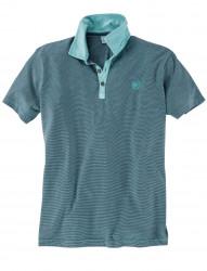 Fein gestreiftes Jersey-Poloshirt von Lerros