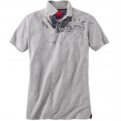Pique Poloshirt mit leichtem Druck von s.Oliver