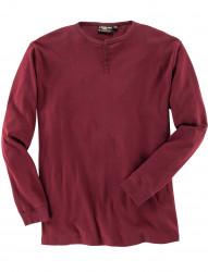 Meliertes Langarm-Shirt mit Knopfleiste von ALLSIZE