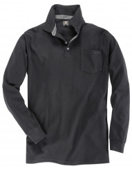 Langarm Poloshirt aus leichtem Jersey von Kitaro