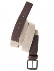 Stretch-Gürtel mit Ledereinsatz von ALLSIZE