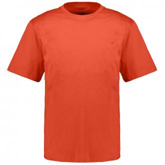 T-Shirt mit Rundhalsausschnitt korallrot_457/521   3XL