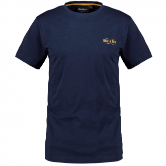 Sportives T-Shirt mit Logo Print dunkelblau_580 | 10XL