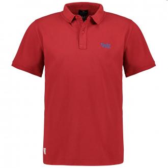 """Pique-Poloshirt mit """"Replika""""-Stickerei, kurzarm rot_0300   3XL"""