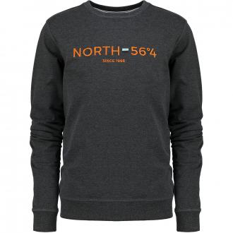 """Sweatshirt mit """"NORTH 56°4""""-Stickerei dunkelgrau_0090   8XL"""