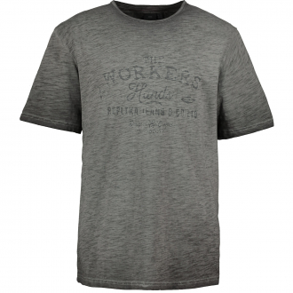 "T-Shirt mit ""THE WORKERS HANDS""-Print im Vintagestyle dunkelgrau_0099/34 | 3XL"