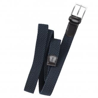 Moderner Gürtel aus geflochtenem, elastischem Gurtband blau_22 | 115