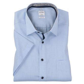 Modisches Ciity-Hemd  mit Struktur kurzarm hellblau_111 | 46