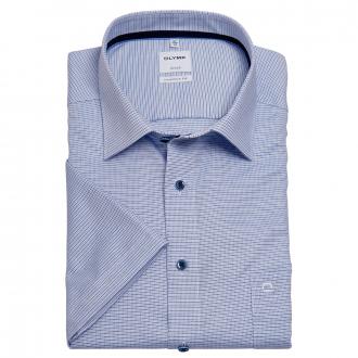 Leicht gemustertes, bügelfreies Cityhemd, kurzarm blau_11 | 46