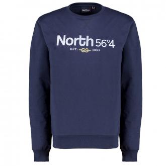 Sweatshirt mit Logo-Stickerei dunkelblau_0580 | 3XL