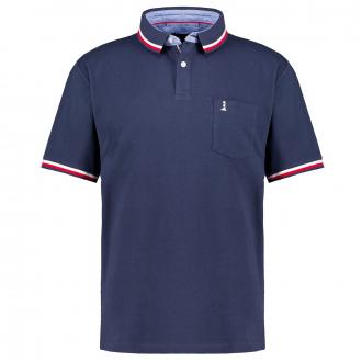 Sportliches Poloshirt aus Baumwoll-Piqué mit Brusttasche, kurzarm dunkelblau_0580 | 3XL