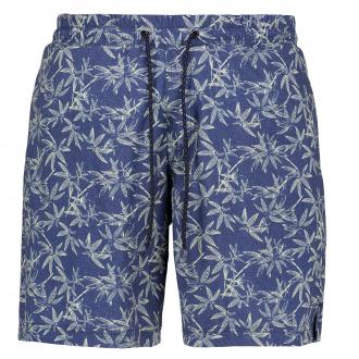 Badeshorts mit tropischem Allover-Print blau/grün_0930/4060   3XL
