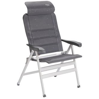 Deluxe Klappstuhl AL-238-C XL mit extrabreiter Sitzfläche, Tragkraft bis 200 kg grau_30 | One Size