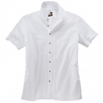 Elegantes Kurzarm-Trachtenhemd weiß_WEIß | 3XL