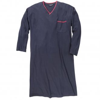 Nachthemd mit langem Arm dunkelblau_360 | 3XL