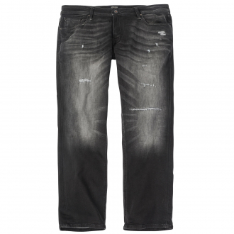 Lässige Stretch Destroyed Jeans im 5-Pocket Style anthrazit_BLACKA | 52/30