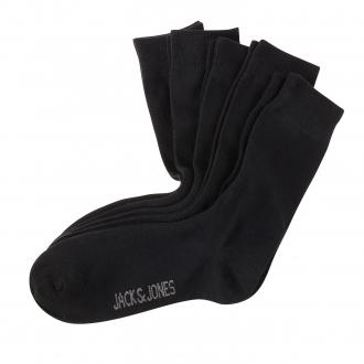 5-er Pack Socken mit Elasthan; Größe 43-46 schwarz_BLACK   One Size