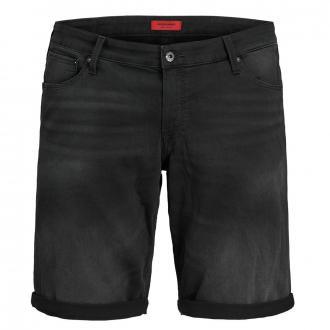 Jeansshort mit Stretch und leichter Waschung schwarz_BLUEDENIM/BLACK | W48
