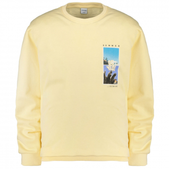"Sweatshirt mit ""Summer is coming""-Print gelb_FLAN 