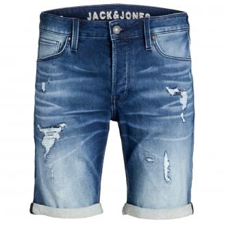 Jeansshort mit Stretch im Destroyed-Look jeansblau_BLUEDENIM | W48