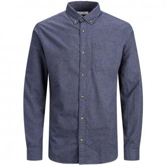 Freizeithemd aus Baumwoll-Flanell, langarm blau_NAVYBLAZER | 5XL