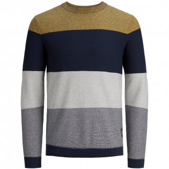 Pullover im Colourblock-Style blau_SPICYMUSTARD | 5XL