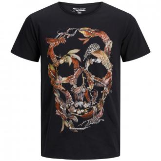 Cooles T-Shirt mit Totenkopf-Print schwarz_TAPSHOE | 3XL