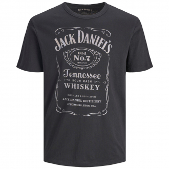 T-Shirt mit Jack Daniel's Logo im Vintage-Look, kurzarm schwarz_CAVIAR/1 | 3XL