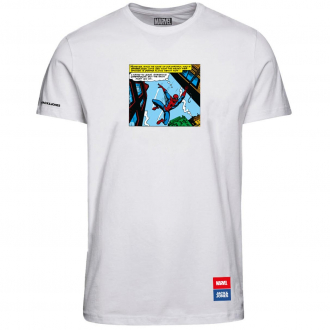 "Bequemes T-Shirt mit ""Marvel"" Print weiß_CLOUDDANCER | 5XL"
