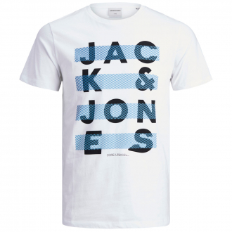 """Gesteiftes T-Shirt mit """"Jack & Jones""""-Schriftzug weiß_WHITE   3XL"""