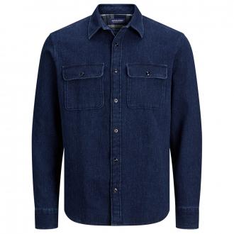 Freizeithemd im Jeans-Look dunkelblau_DARKBLUE | 4XL