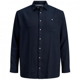 Freizeithemd mit Brusttasche dunkelblau_DARKBLUE   4XL