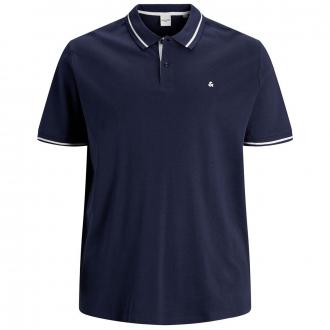 Poloshirt mit Kontrastdetails, kurzarm marine_NAVY | 3XL