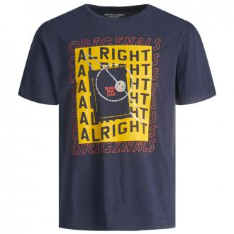 "T-Shirt mit ""ALRIGHT""-Print blau_NAVYBLAZER   5XL"