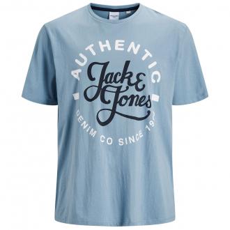 T-Shirt mit Letter-Print, kurzarm grau_FADED | 3XL