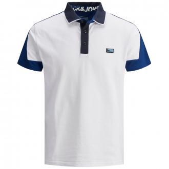 Poloshirt im Colorblock, kurzarm weiß_WHITE   3XL
