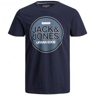 T-Shirt mit Jack&Jones-Print, kurzarm marine_NAVY | 3XL