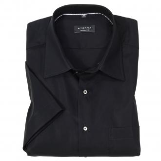Klassisches Cityhemd mit Brusttasche, kurzarm schwarz_39 | 50
