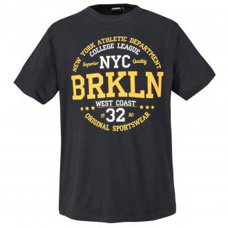 """Stylishes T-Shirt mit """"BRKLN""""-Print grau_710   12XL"""