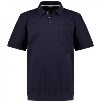 Poloshirt aus Baumwoll-Piqué mit Brusttasche, kurzarm dunkelblau_360 | 3XL