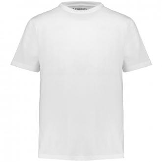 Meliertes T-Shirt mit Rundhalsausschnitt weiß_100 | 3XL