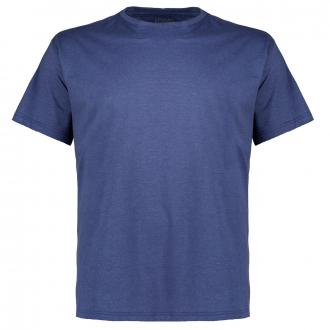 Meliertes T-Shirt mit Rundhalsausschnitt jeansblau_350   3XL