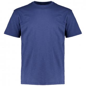 Meliertes T-Shirt mit Rundhalsausschnitt blau_351 | 3XL