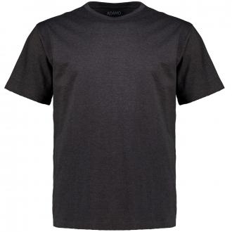Meliertes T-Shirt mit Rundhalsausschnitt dunkelgrau_770 | 3XL
