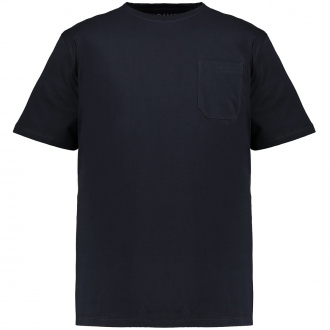 Basic T-Shirt mit Brusttasche dunkelblau_360 | 3XL